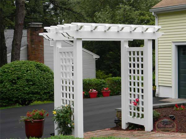 Vinyl Arbor's & Pergola's - Vinyl Arbor's & Pergola's Colonial Fence Co. Norfolk, MA