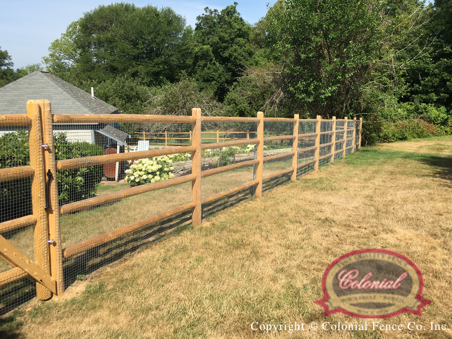 Wood Fence - Post & Rail | Colonial Fence Co. Norfolk, MA