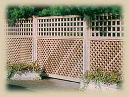 semi-screen - wood fence