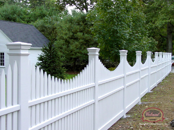 Open Ed Picket Wood Fence